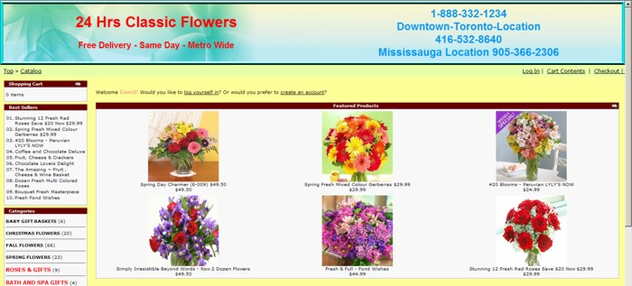 Home page of Classic Flowers